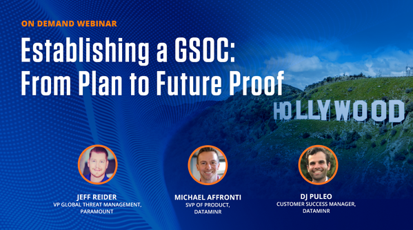 Establishing a GSOC: From Plan to Future Proof