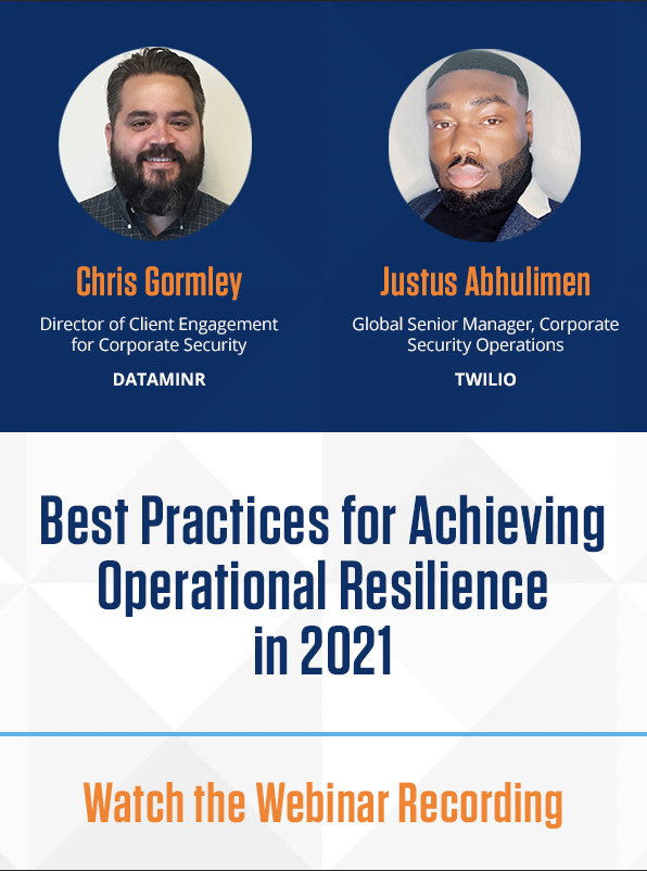 Best Practice for Achieving Operational Resilience in 2021