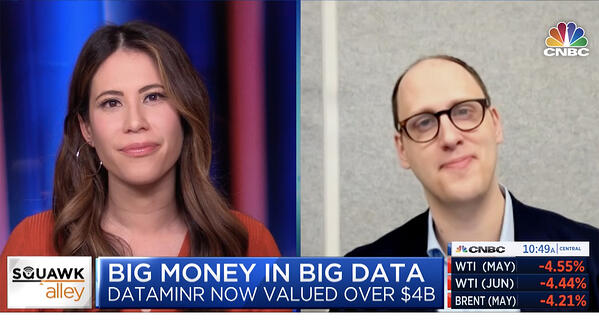 CNBC Interview with Dataminr Founder & CEO Ted Bailey