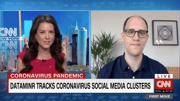 Ted Bailey Dataminr CNN International coronavirus interview
