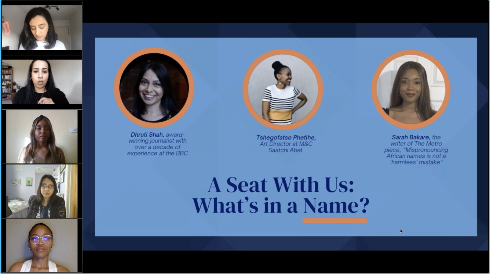 A Seat With Us: What's in a Name?